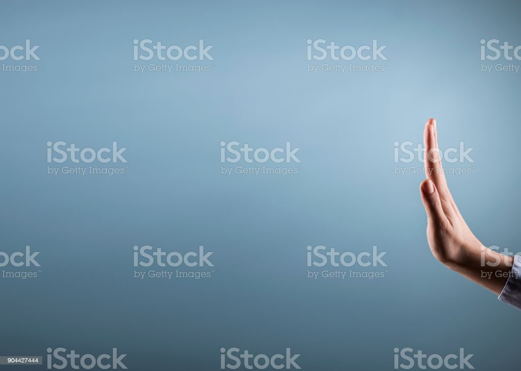 Stop hands sign / Studio shot concept (Click for more) stock photo