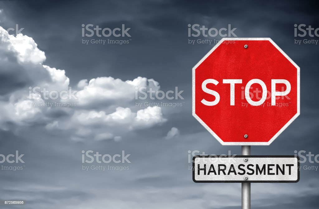 Stop harassment - foto stock