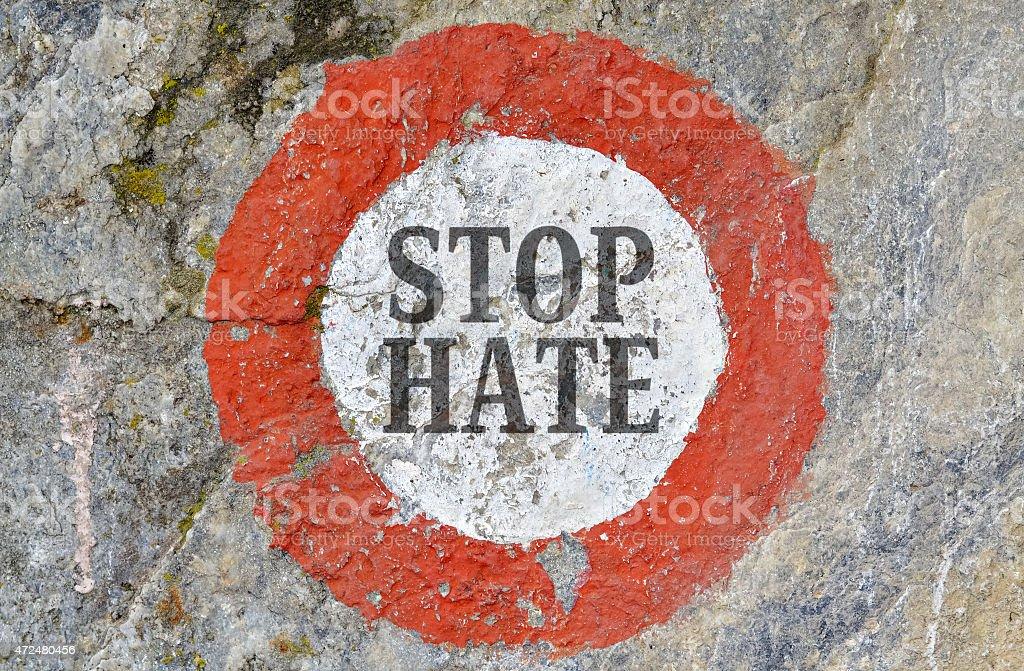 Stop hate stock photo