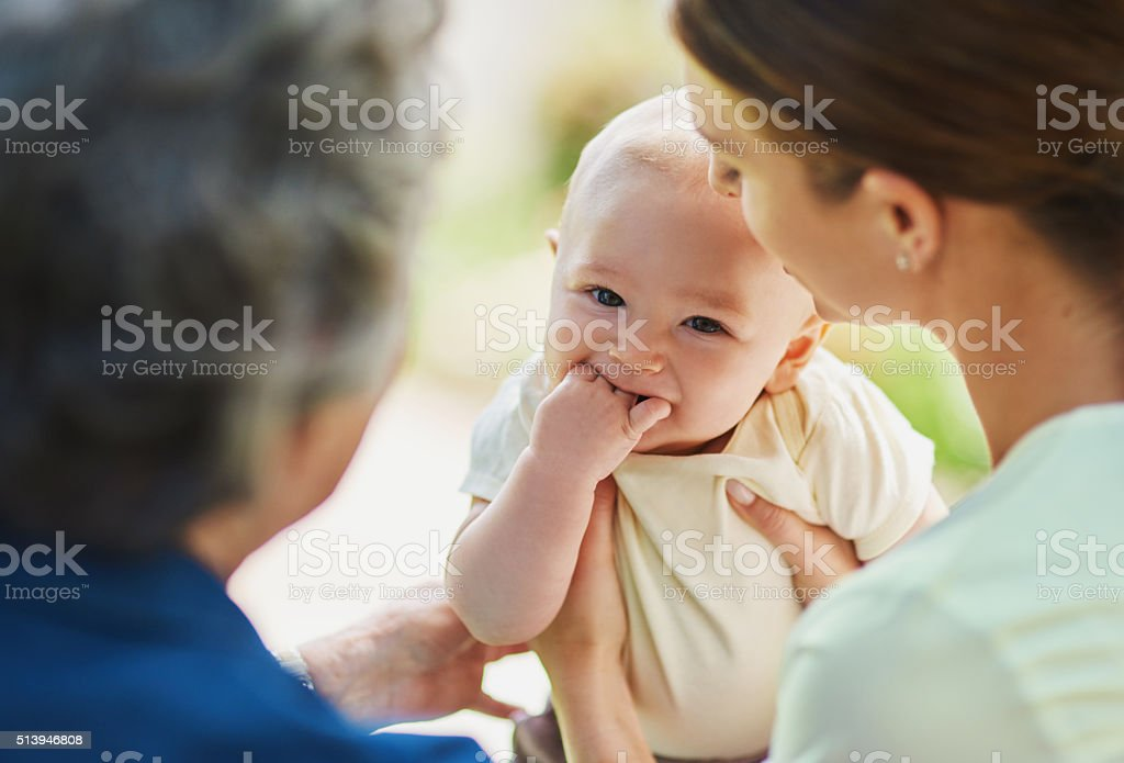 Stop it, you're making me shy... stock photo