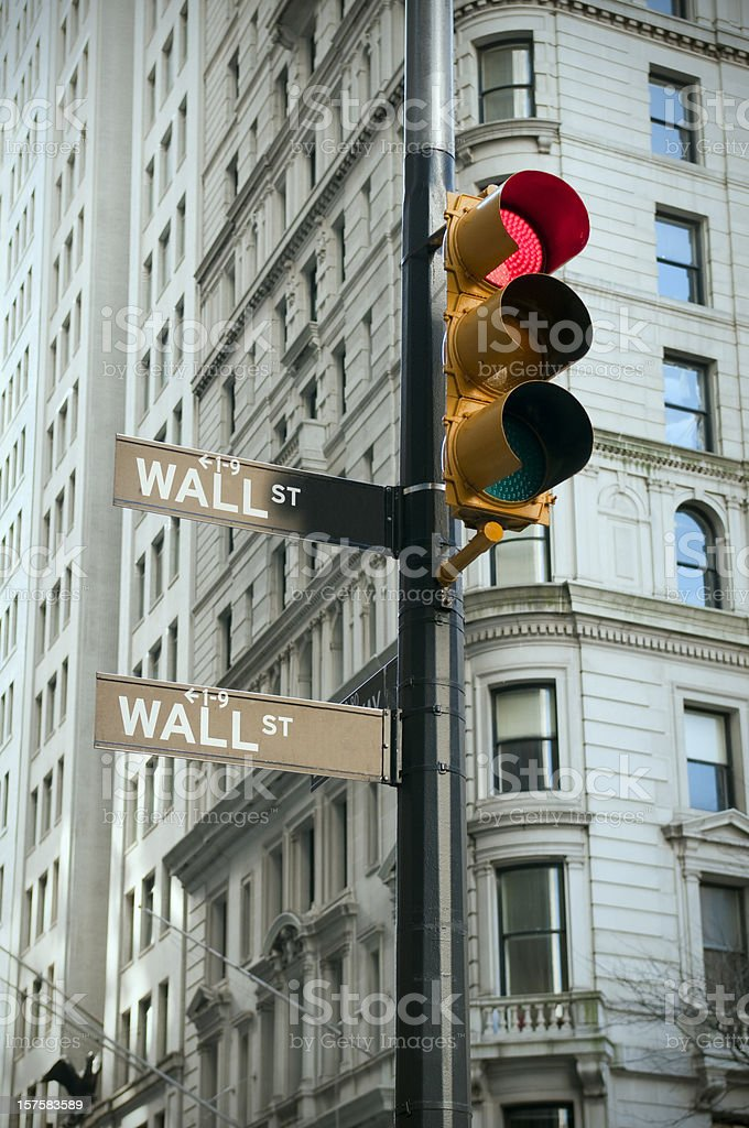 Wall Street red light royalty-free stock photo