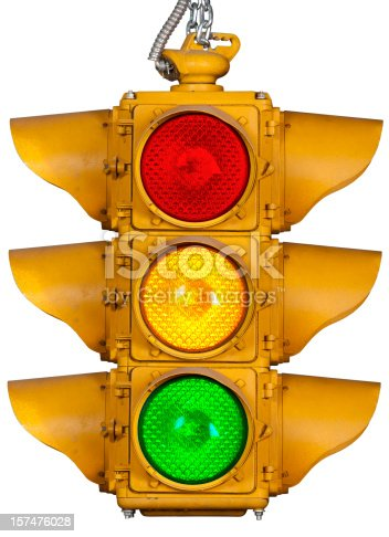 Stop Light Isolated on White