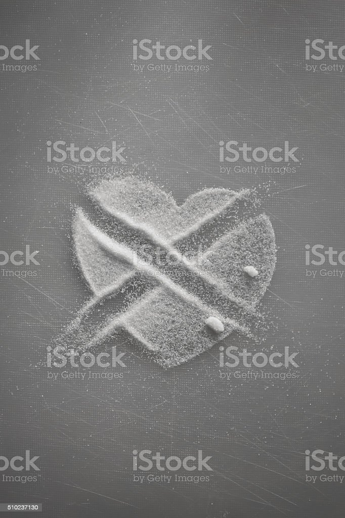 Stop loving sugar stock photo