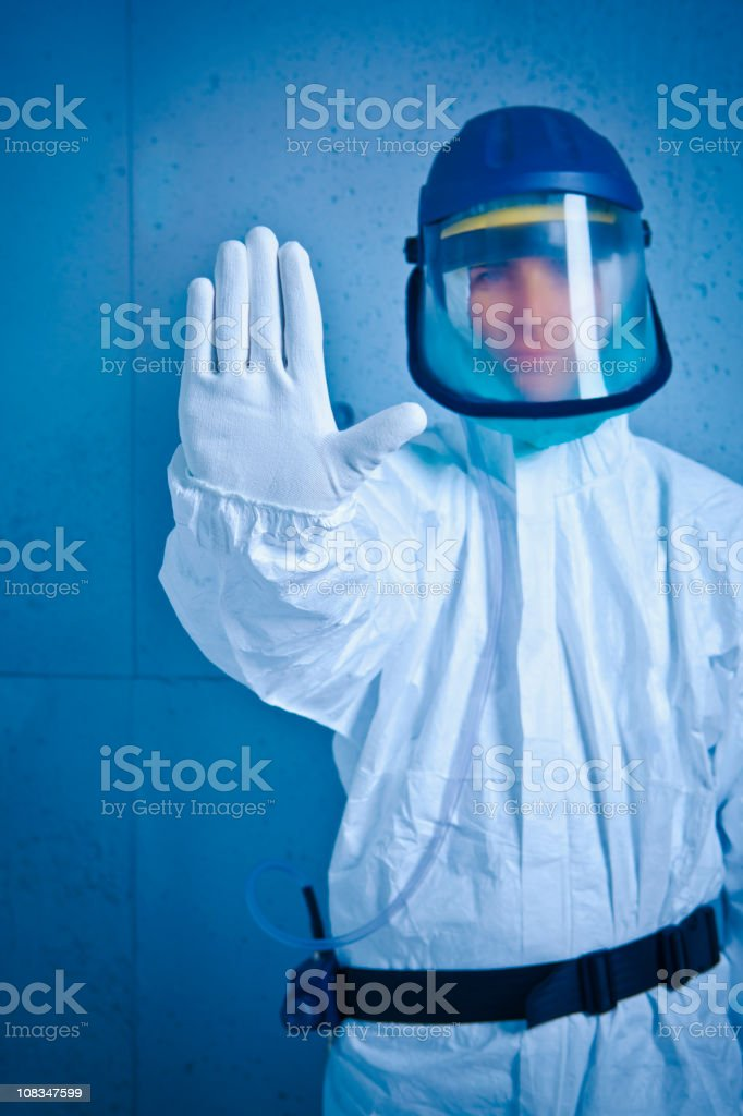 Stop. Nuclear alert royalty-free stock photo