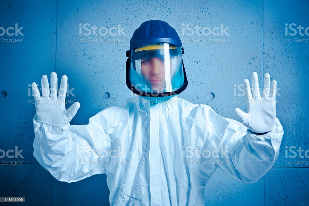 Stop. Nuclear alert stock photo
