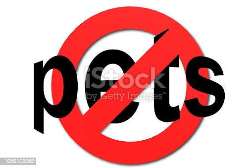 istock Stop Pets sign 1056103382