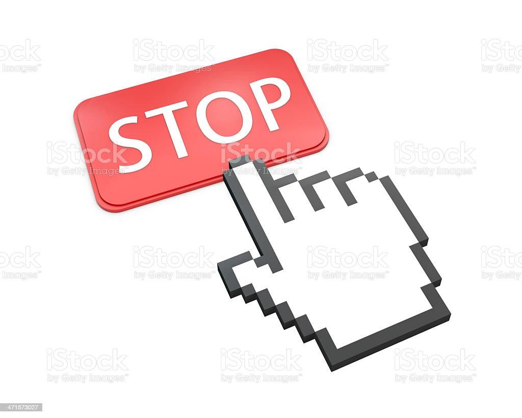 stop royalty-free stock photo
