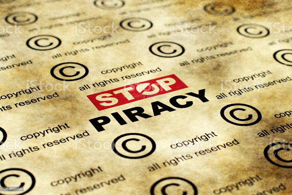 Stop piracy stock photo
