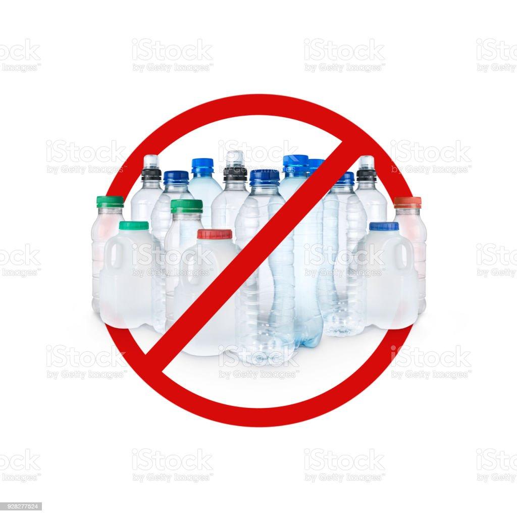 Kunststoff Warnzeichen zu stoppen – Foto