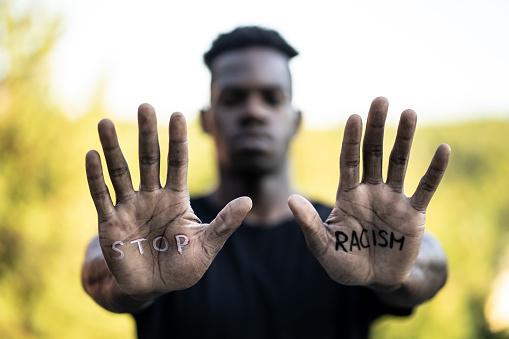 """Stop Racism"" message concept"
