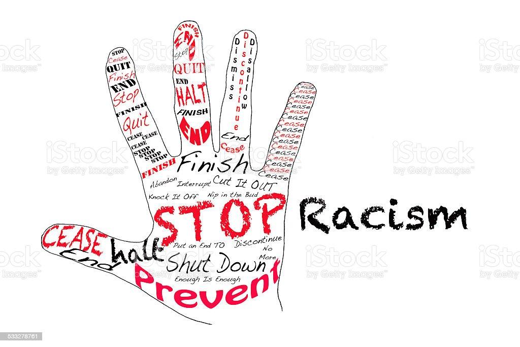 Stop Racism stock photo
