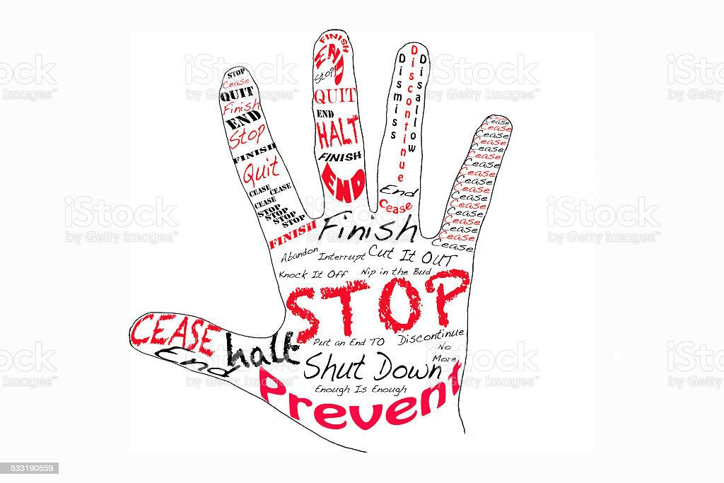 Stop - RIght Hand stock photo