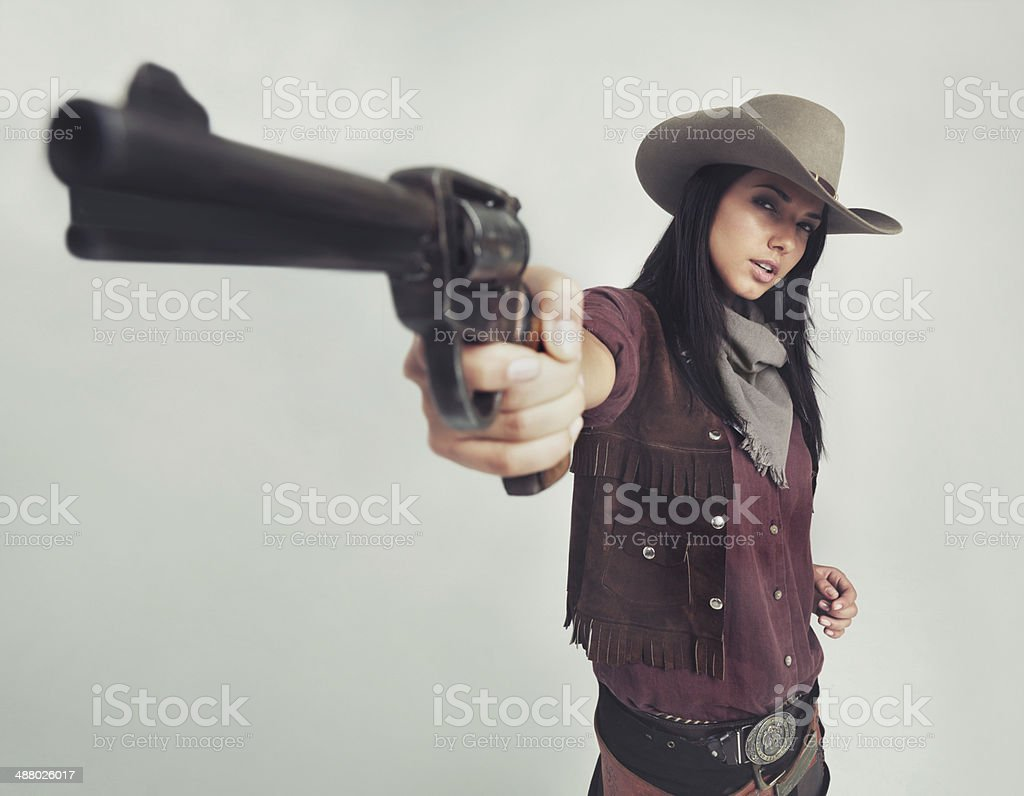 Stop right there amigo! stock photo