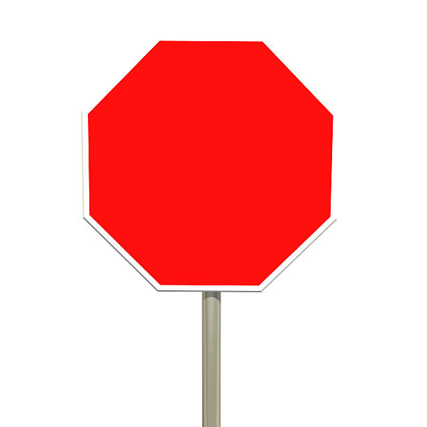 Best Silhouette Of A Blank Stop Signs Stock Photos, Pictures