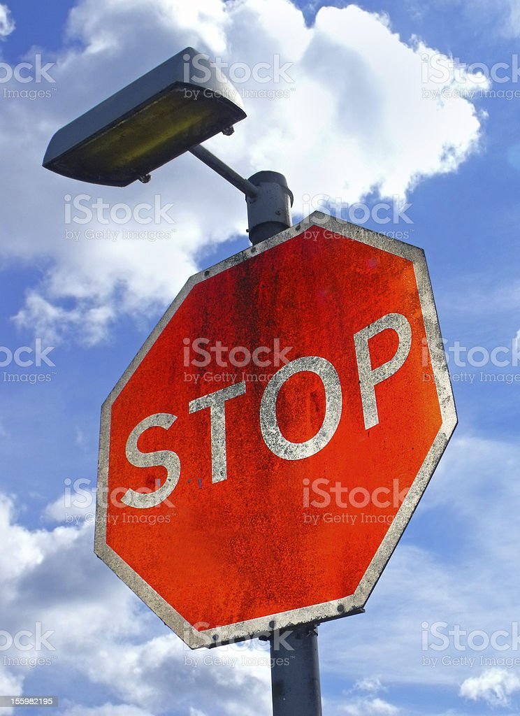 Stop Road Sign royalty-free stock photo