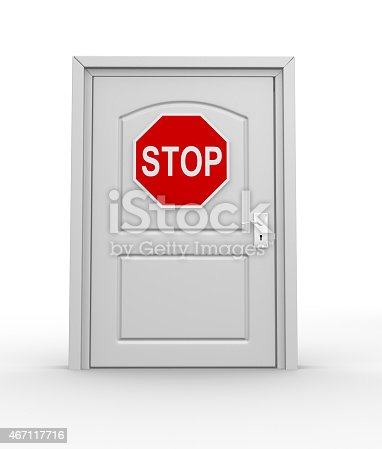 istock Stop road sign 467117716
