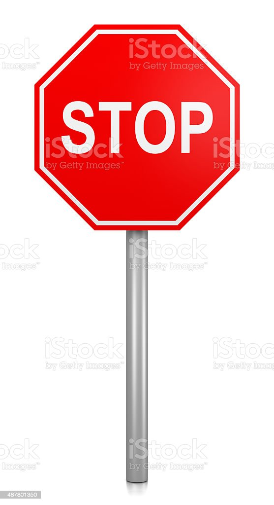Stop Road-Sign stock photo