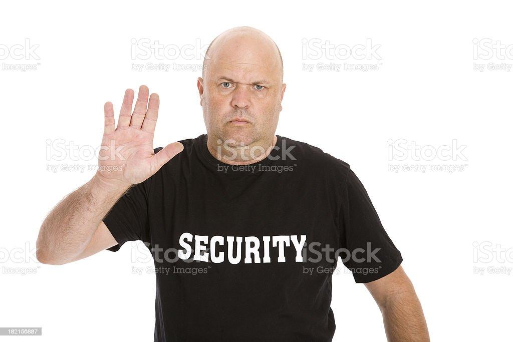 Haltestelle Sicherheit Mann Lizenzfreies stock-foto