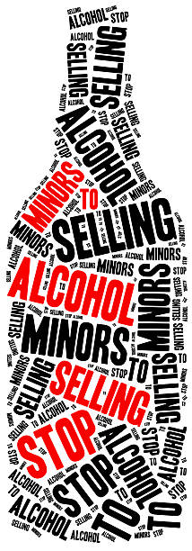 Stop selling alcohol to juvenile. stock photo