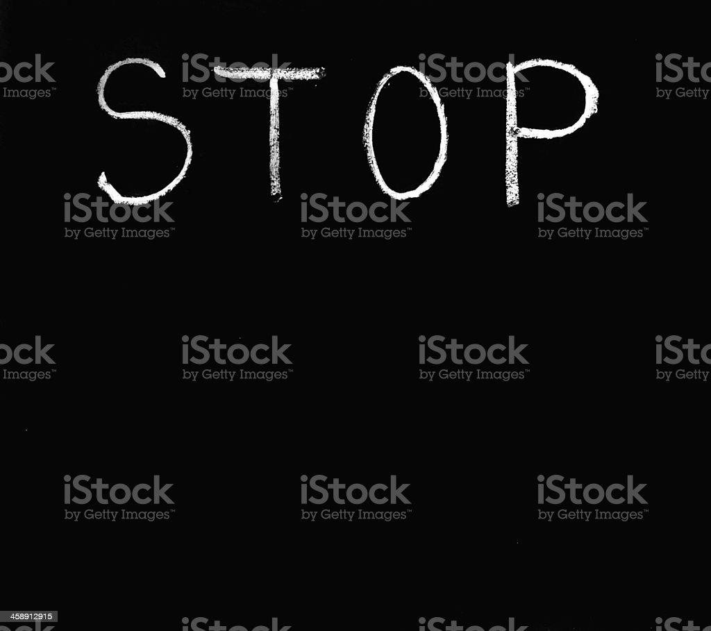 Stop sighn. stock photo