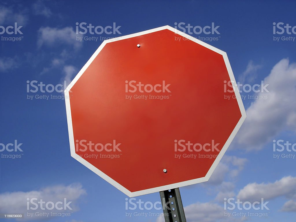 Stop Sign Blank royalty-free stock photo