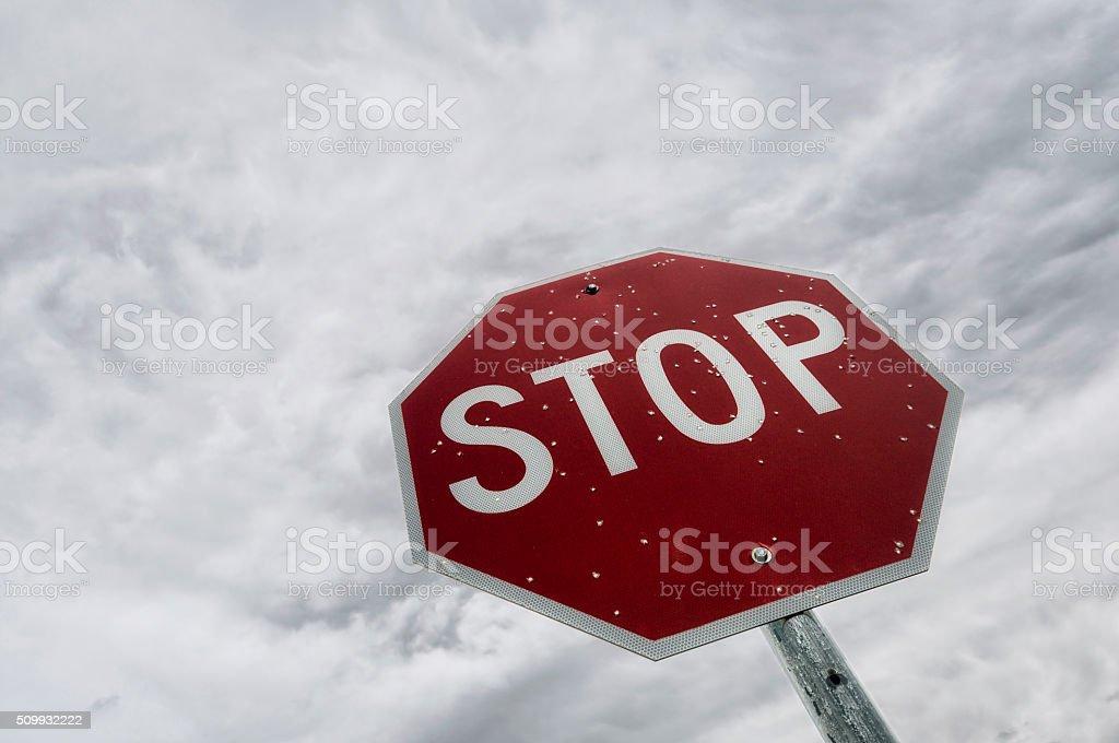 Stop Sign in Colorado stock photo