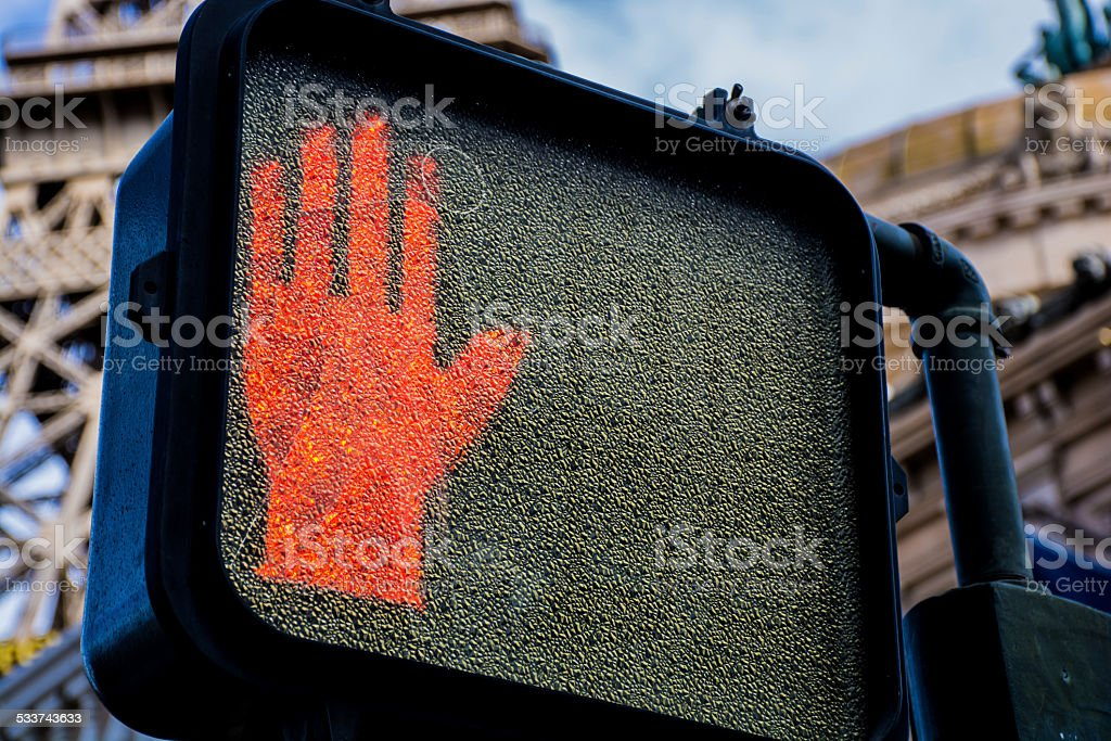 Stop sign in the US stock photo