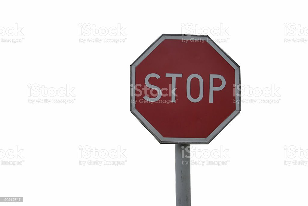stop sign - isolated royalty-free stock photo