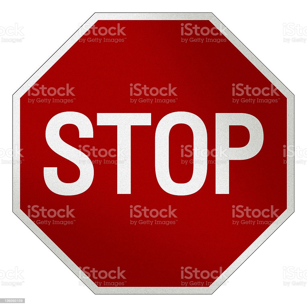 Stop Sign masked stock photo