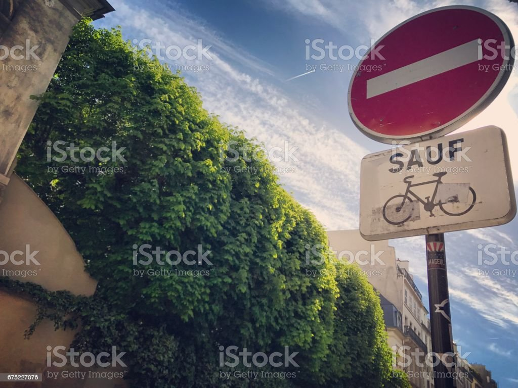 Stop sign on Paris street royalty-free stock photo
