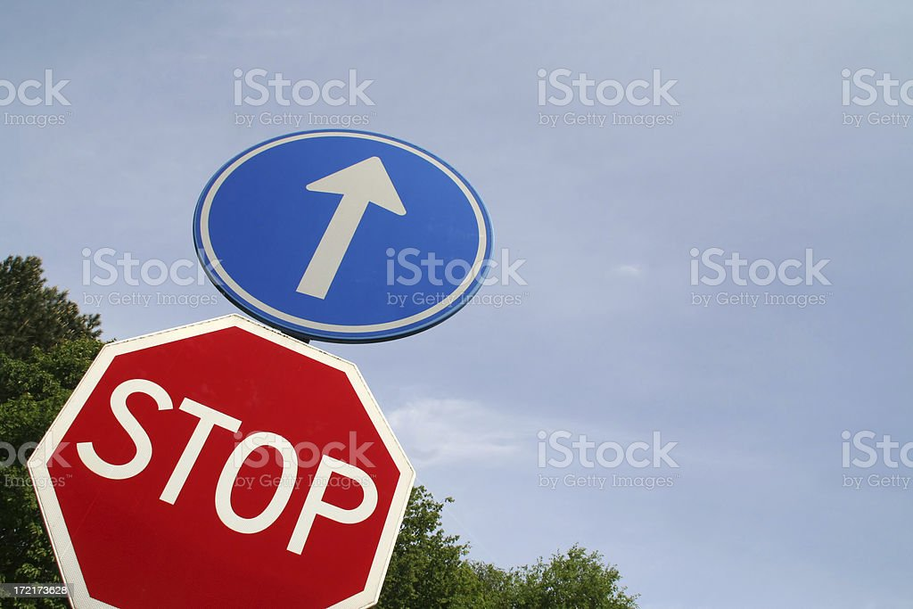 Stop sign # 5 royalty-free stock photo