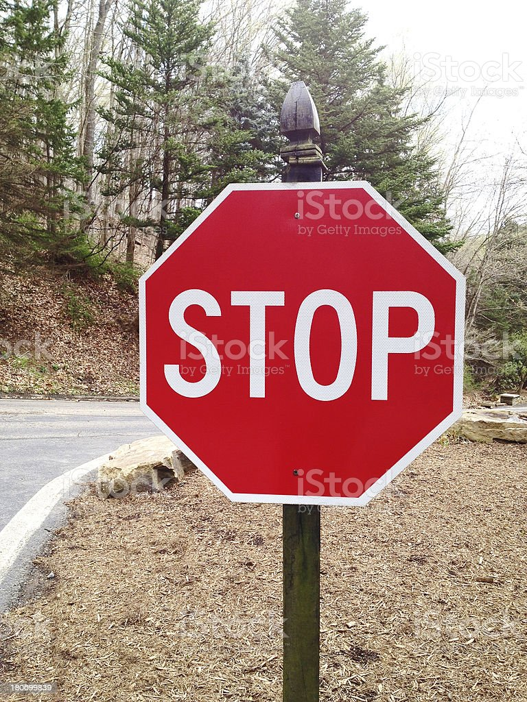 Stop Sign royalty-free stock photo