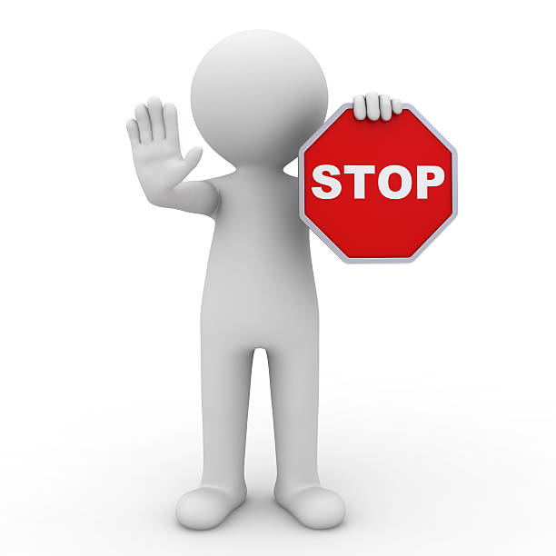 stop sign - stick figure stock photos and pictures