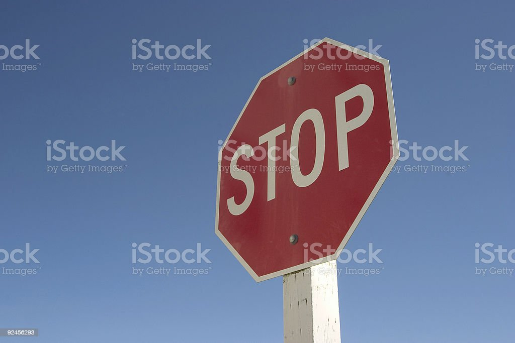 Stop Sign #1 stock photo