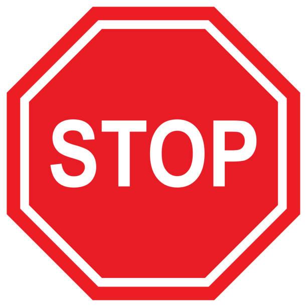 stoppschild vektor - stoppschild stock-fotos und bilder