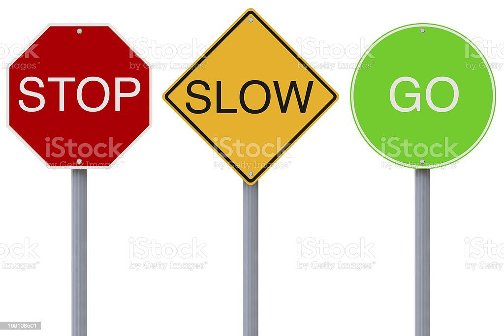 Stop Slow Go royalty-free stock photo
