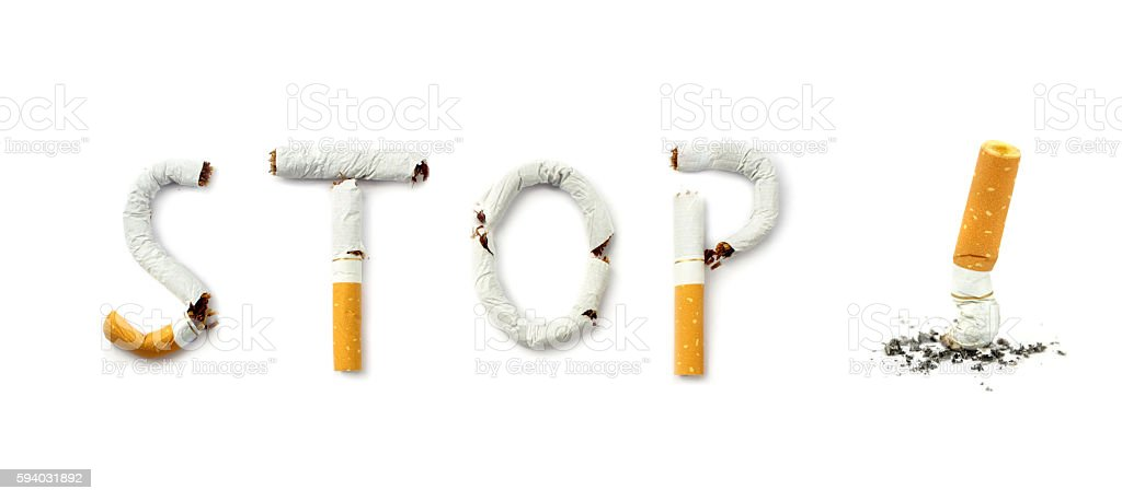Stop smoking conceptual image stock photo