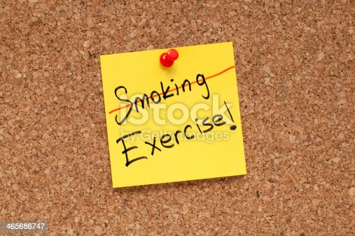 478203597 istock photo Stop Smoking, Exercise More! 465686747