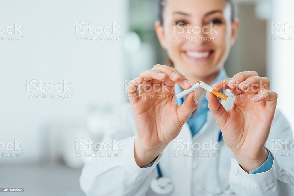 Stop smoking for your health stock photo