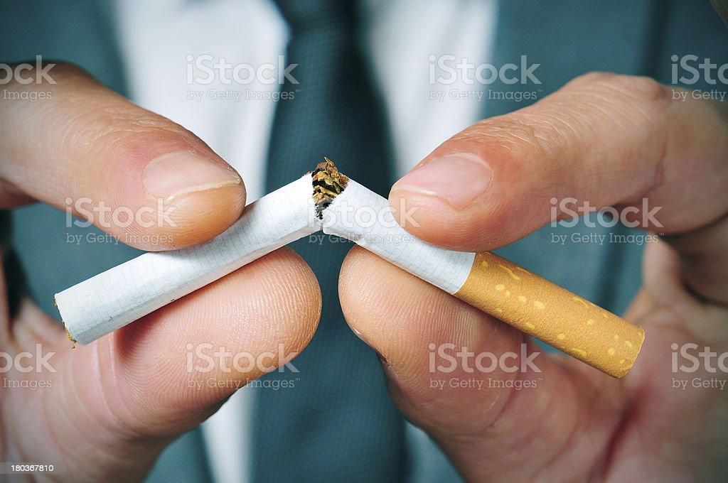 stop smoking stock photo