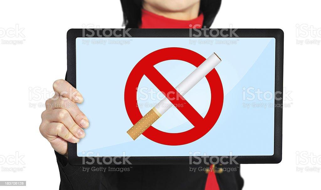 stop smoking symbol royalty-free stock photo