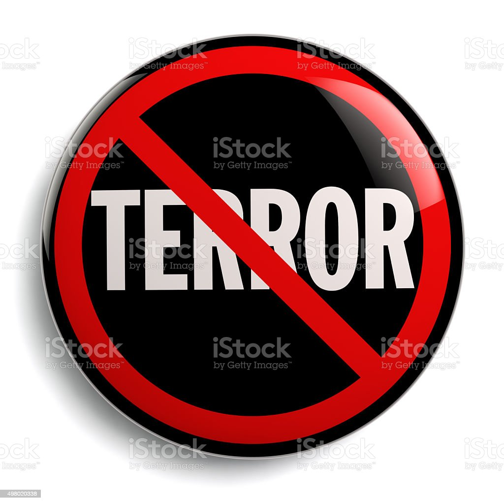 Stop Terror Sign stock photo