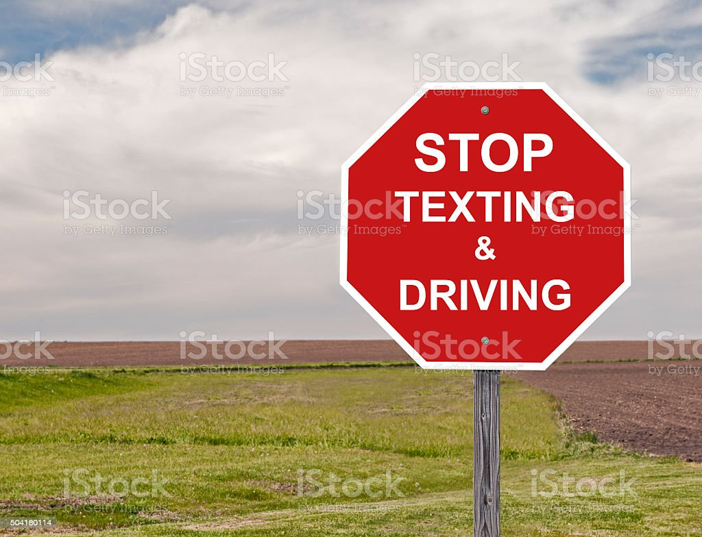 Stop Texting & Driving stock photo