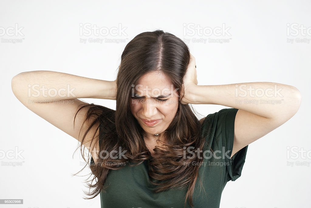 Stop that noise!! royalty-free stock photo