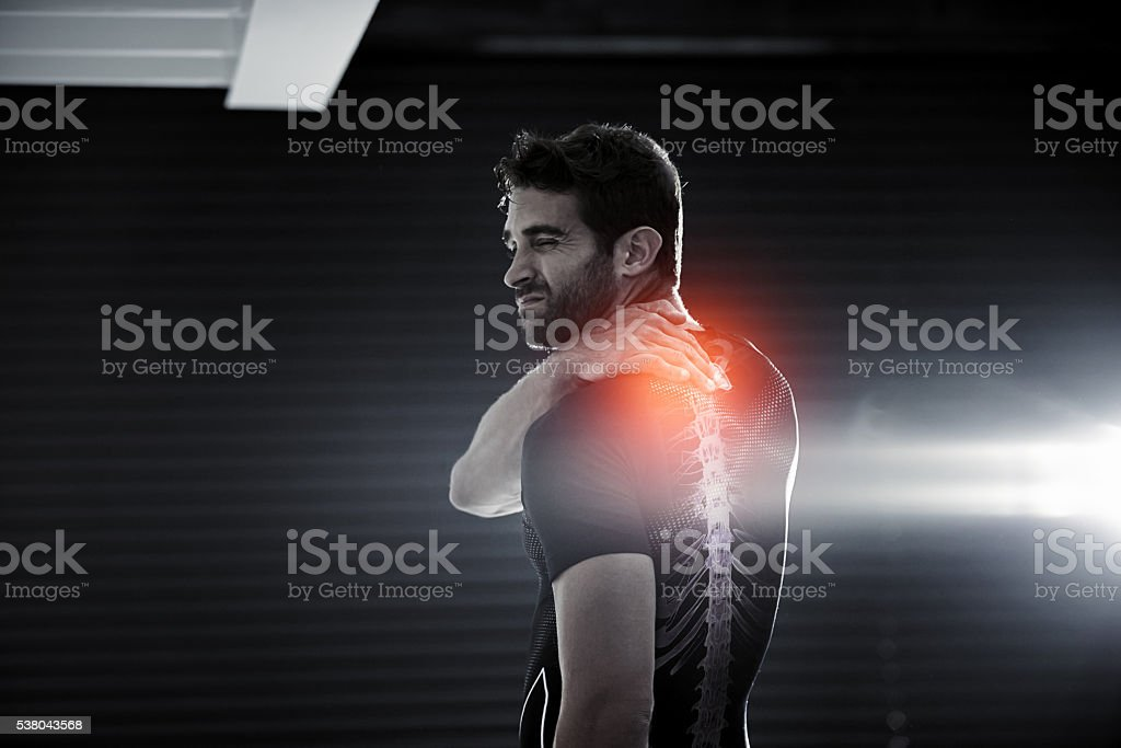 Stop the activity if there is pain stock photo