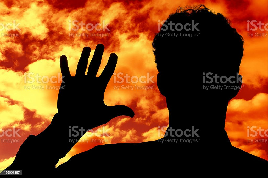 Stop the catastrophe!!! royalty-free stock photo