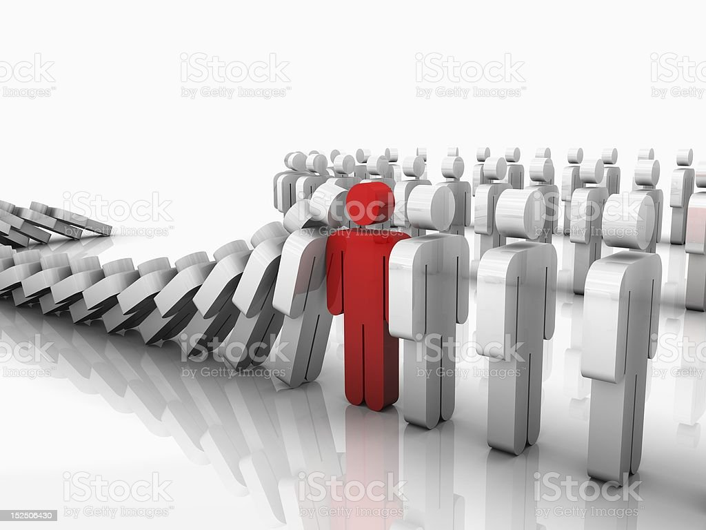 Stop the Domino Effect stock photo