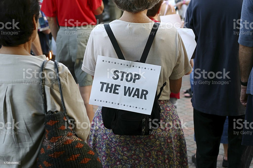 Stop The War Protest royalty-free stock photo