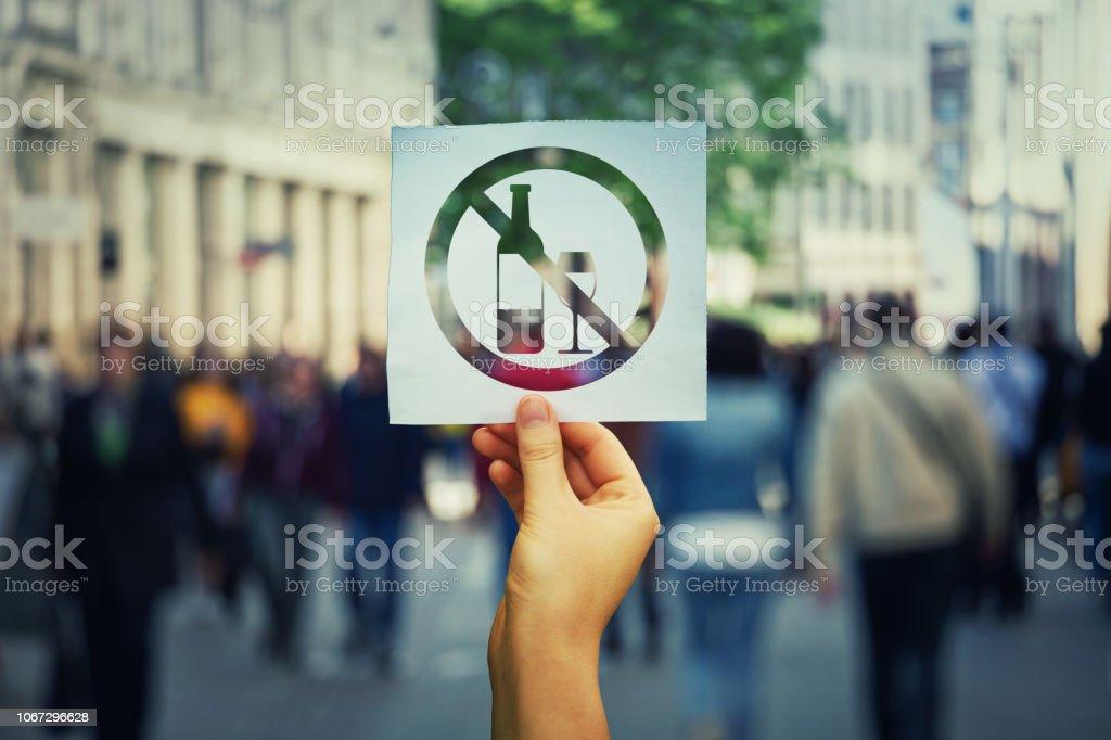 Stop, Symbol zu trinken – Foto
