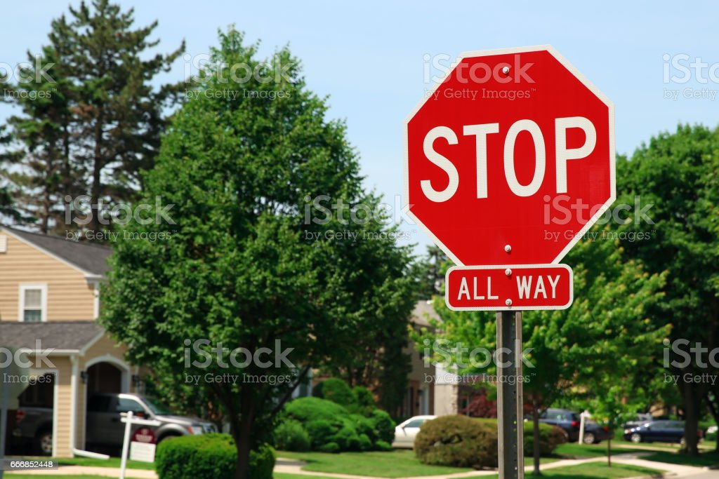 Stop Traffic Sign  On Country Road – Foto